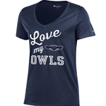 love my owls ladies v-neck t-shirt